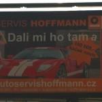 autoservis Hoffmann_billboard Praha_Veronika Šprincová
